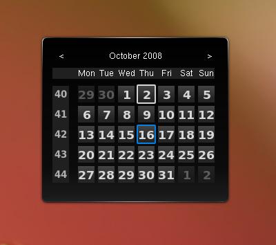 Plasma::Calendar Widget