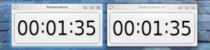 Timer widgets comparison (left: C++ version, right: QML version)